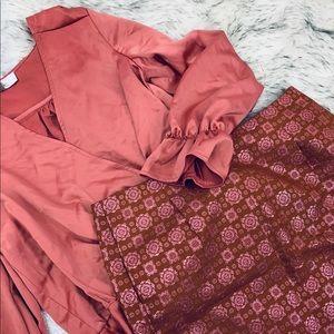 J. Crew Jacquard Print Mini Skirt